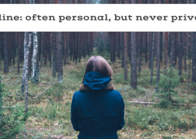 Online: Often personal, never private